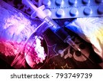 opioid epidemic .opioid pills.... | Shutterstock . vector #793749739