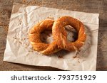 turkish bagel simit on packing... | Shutterstock . vector #793751929