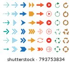 modern colored arrows. vector... | Shutterstock .eps vector #793753834
