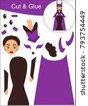 cut and paste worksheet  evil... | Shutterstock .eps vector #793754449