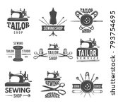 different labels or logos set... | Shutterstock .eps vector #793754695