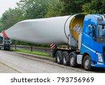 wind energy  heavy transport of ... | Shutterstock . vector #793756969