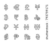 vector image set to currency... | Shutterstock .eps vector #793759171