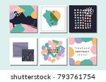 vector abstract covers... | Shutterstock .eps vector #793761754