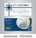 gift certificates and vouchers... | Shutterstock .eps vector #793763431