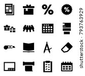 origami style icon set  ... | Shutterstock .eps vector #793763929