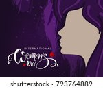 international happy womens day... | Shutterstock .eps vector #793764889