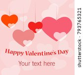 valentine's day congratulations | Shutterstock .eps vector #793765321