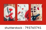 collage of love and romantic....   Shutterstock . vector #793765741