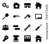 origami style icon set   gears... | Shutterstock .eps vector #793771435