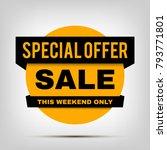 round sale banner  special...   Shutterstock .eps vector #793771801