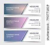 business banner template in... | Shutterstock .eps vector #793771819