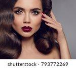 beauty makeup. glamour woman...   Shutterstock . vector #793772269