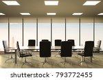3d rendering empty conference... | Shutterstock . vector #793772455