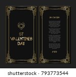 vintage retro style invitation... | Shutterstock .eps vector #793773544