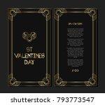 vintage retro style invitation... | Shutterstock .eps vector #793773547