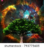 surreal spiritual composition.... | Shutterstock . vector #793775605