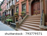 traditional houses in brooklyn... | Shutterstock . vector #793779571