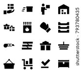 origami style icon set   gift... | Shutterstock .eps vector #793780435