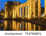 the palace colonnade... | Shutterstock . vector #793780891