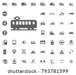 tram icon. transport and... | Shutterstock .eps vector #793781599