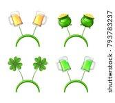 saint patrick's concept icons... | Shutterstock .eps vector #793783237