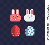 Happy Easter Eggs And Cute...