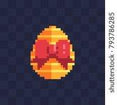 happy easter egg greeting card. ... | Shutterstock .eps vector #793786285