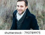young handsome man posing... | Shutterstock . vector #793789975