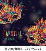 happy carnival. festive concept ... | Shutterstock .eps vector #793791721