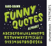 'funny quotes' retro styled... | Shutterstock .eps vector #793791871
