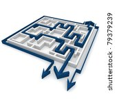 various ways of passing the maze | Shutterstock . vector #79379239