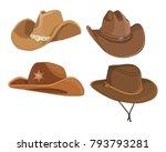 set of cowboy hat vector... | Shutterstock .eps vector #793793281