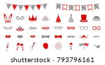 funny icons for carnival party  ... | Shutterstock .eps vector #793796161