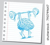 brain workout  hard work... | Shutterstock .eps vector #793799647