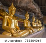 buddha pang shrine... | Shutterstock . vector #793804069
