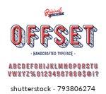 'offset' vintage sans serif... | Shutterstock .eps vector #793806274