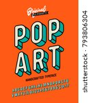 Slanted 'pop Art' Vintage 3d...