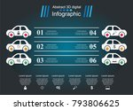 road infographic design... | Shutterstock .eps vector #793806625