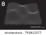 abstract vector landscape... | Shutterstock .eps vector #793812577