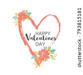 lovely valentines day gift card ... | Shutterstock .eps vector #793815181