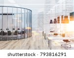 white open space office with a... | Shutterstock . vector #793816291