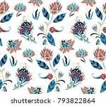 seamless vector blue  red ... | Shutterstock .eps vector #793822864