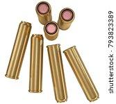 cartridge  bullet set  isolated ...   Shutterstock . vector #793823389