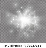 white glowing light burst... | Shutterstock .eps vector #793827151