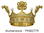 gold crown with gems isolated... | Shutterstock . vector #79382779