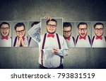 chubby man with split... | Shutterstock . vector #793831519