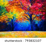 original oil painting on canvas.... | Shutterstock . vector #793832107