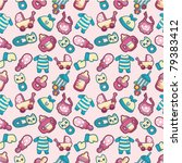 seamless baby toy pattern | Shutterstock .eps vector #79383412