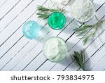 cosmetic cream product samples... | Shutterstock . vector #793834975